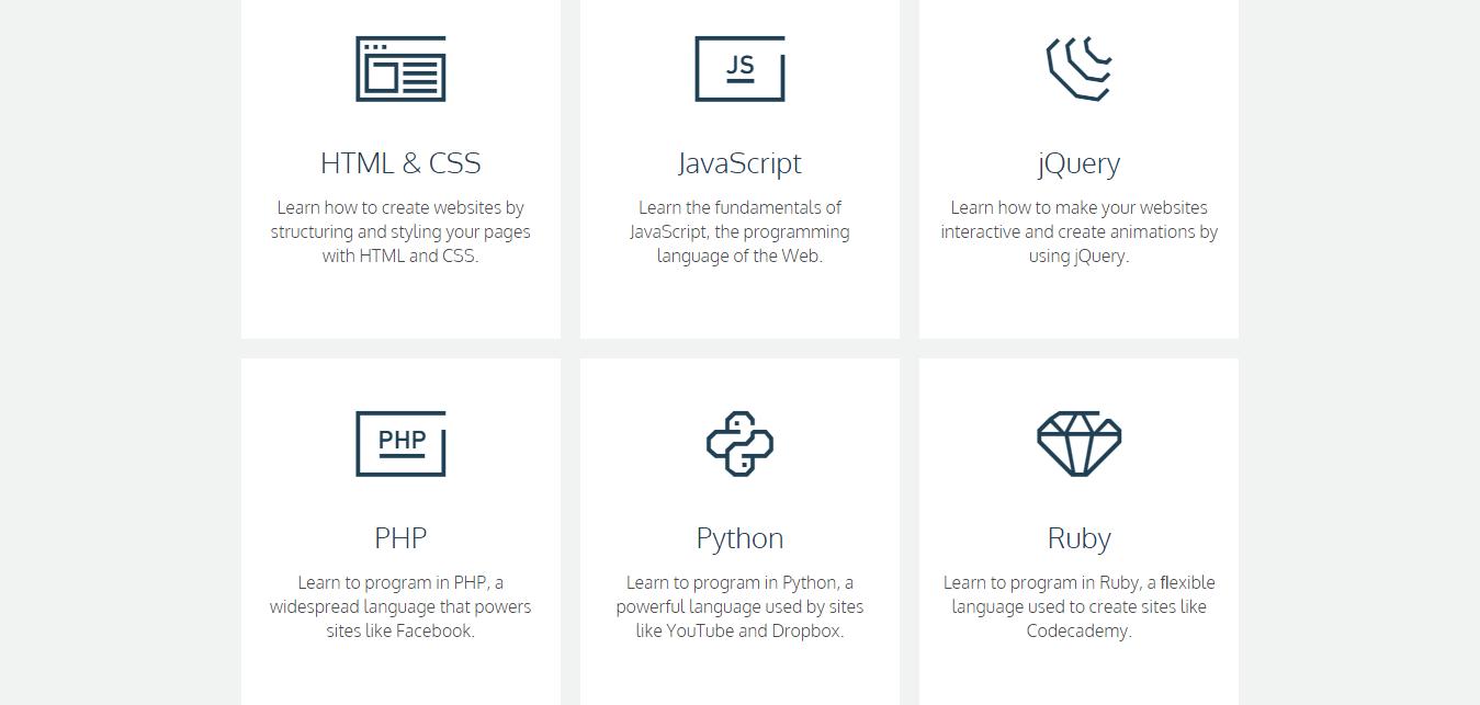موقع codecademy أجمل المواقع لتعلم web design